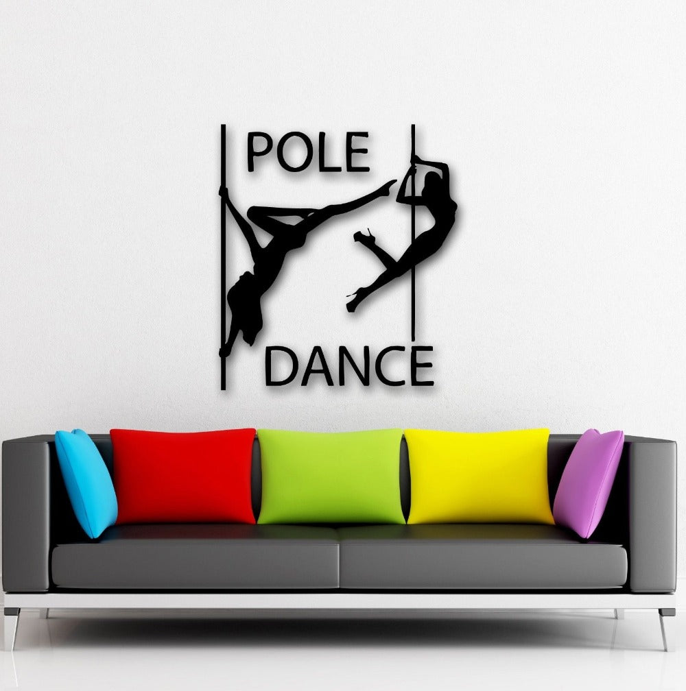 Removable Vinyl Pole Dance Sticker