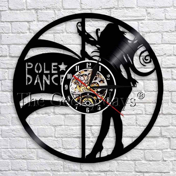 Pole Dancer Silhouette Wall Clock