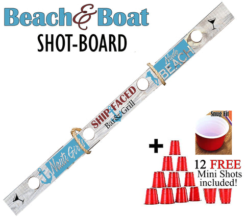 SHIP FACED Beach and Boat Shot-Ski!