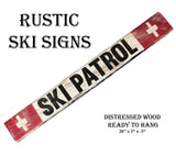 "Rustic SKI PATROL Wooden Ski Sign 26""!"
