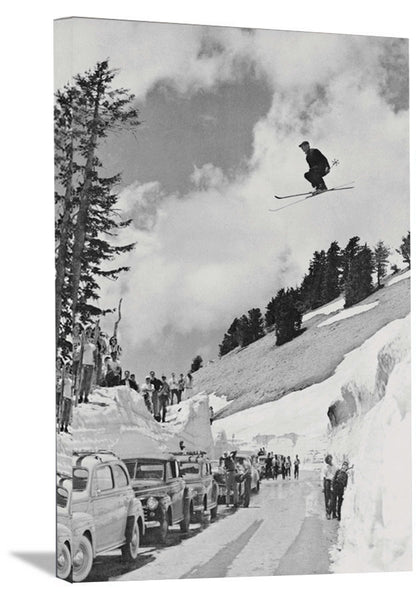 1941 Sepp Jumping Over Mt. Lassen Highway Poster