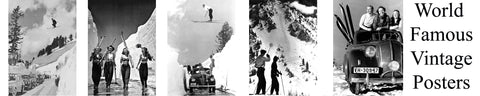 "BONUS BUY!  5 World Famous Vintage 11""x14"" Ski Prints only $99.00"