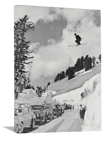 "NEW! 11""x14"" 1941 Skier Jumping over Mt Lassen Highway, CA."