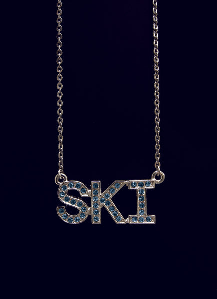 Classic Sterling silver SKI necklace