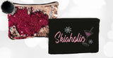 NEW! Ski A Holic Reverse Sequin Bag