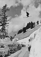 NEW! 1941 Sepp jumping over Mt. Lassen Highway