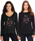 Top Seller! Rhinestone SKI TINI Ladies Long Sleeve