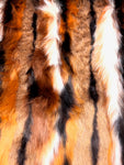 Multi-color faux fur (Orange, rust, brown)