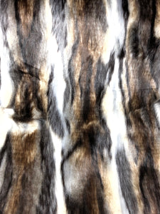 Multi-color faux fur (Dark natural)