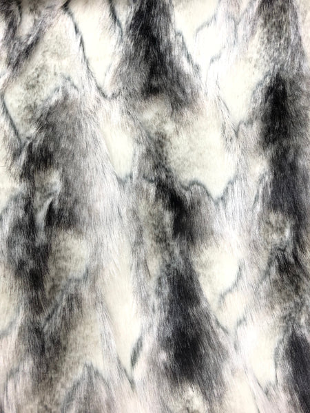 Multi-color faux fur (Brown, grey, white)