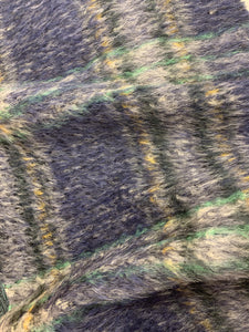Wool Mohair Plaid Fabric