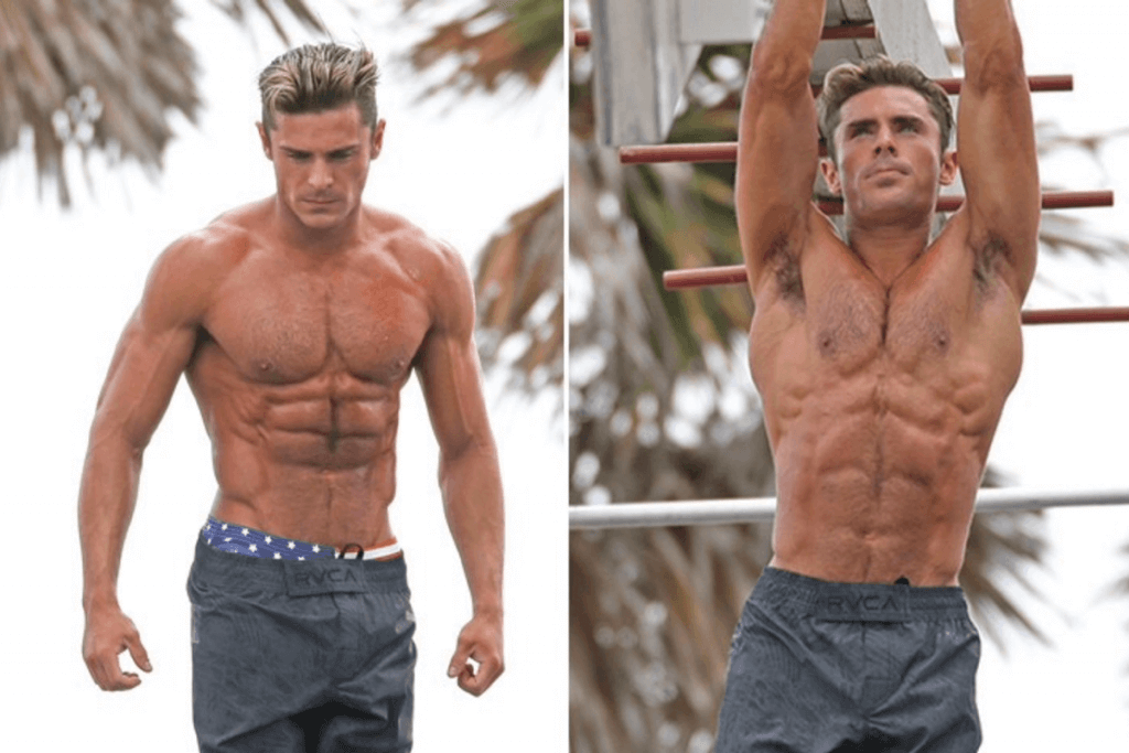 Zac Efron Workout Plan + Diet Plan for Baywatch (Complete