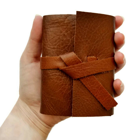 Custom 3x4 inch mini Journal with Unlined Pages that fits in your hand
