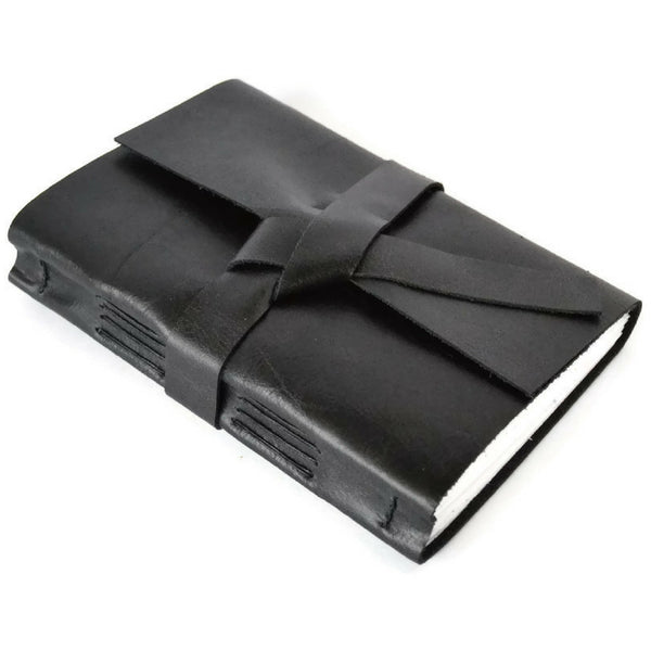 4x6 black leather journal notebook