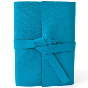Front view of Teal Leather Journal