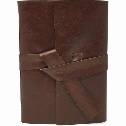 Front view of Burnt Umber Leather Journal Notebook