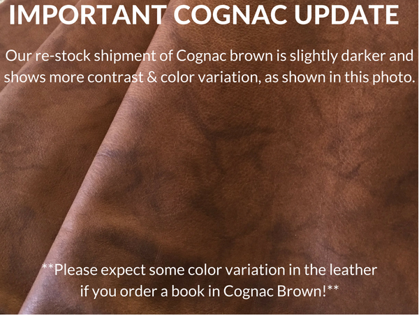 Cognac Brown Leather Color Swatch