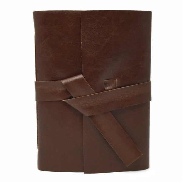 Burnt Umber Leather Journal Front View