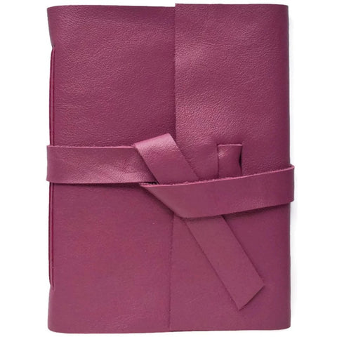 Front View of Mulberry Purple Leather Journal