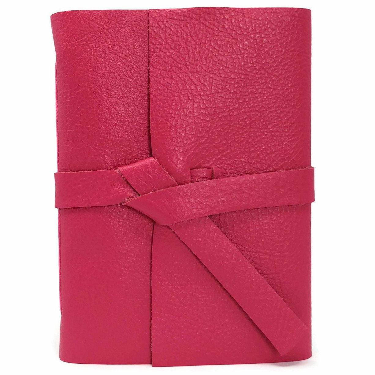 Pink leather slim Journal Front View