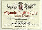 Domaine Ghislaine Barthod Chambolle-Musigny 1er Cru les Chatelots 2014