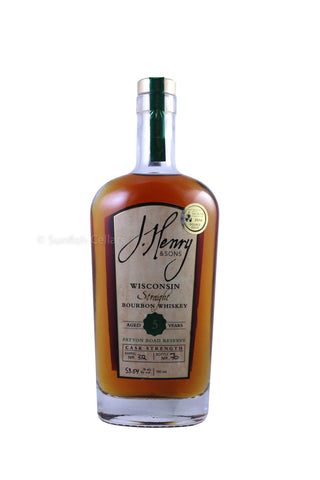 J. Henry & Sons Patton Road Reserve 5 Year Old Cask Strength Straight Bourbon Whiskey 750ml
