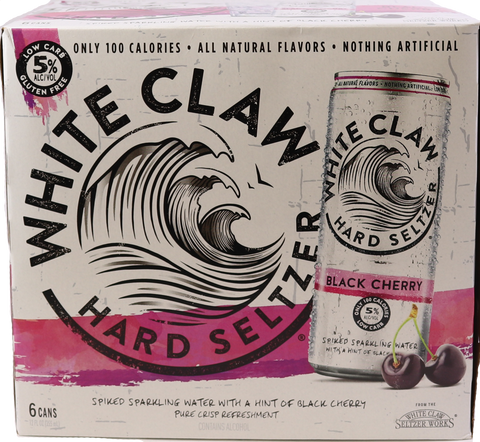 White Claw Black Cherry 6pk Cans
