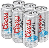 Coors Light 6pk of 16oz Cans