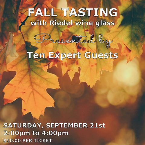 Sunfish Cellars Fall Tasting with Riedel wine glass