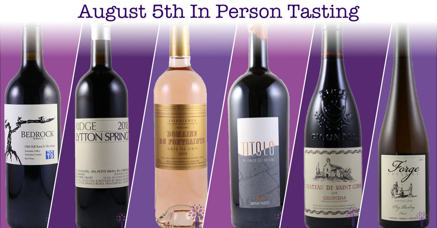 August 5th In-Person Tasting