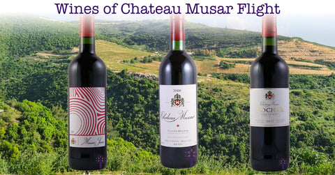 Wines of Chateau Musar Flight