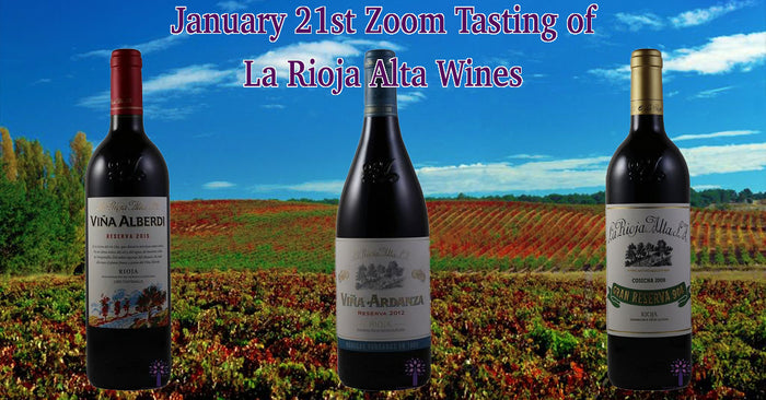 Wines for the January 21st Zoom Tasting