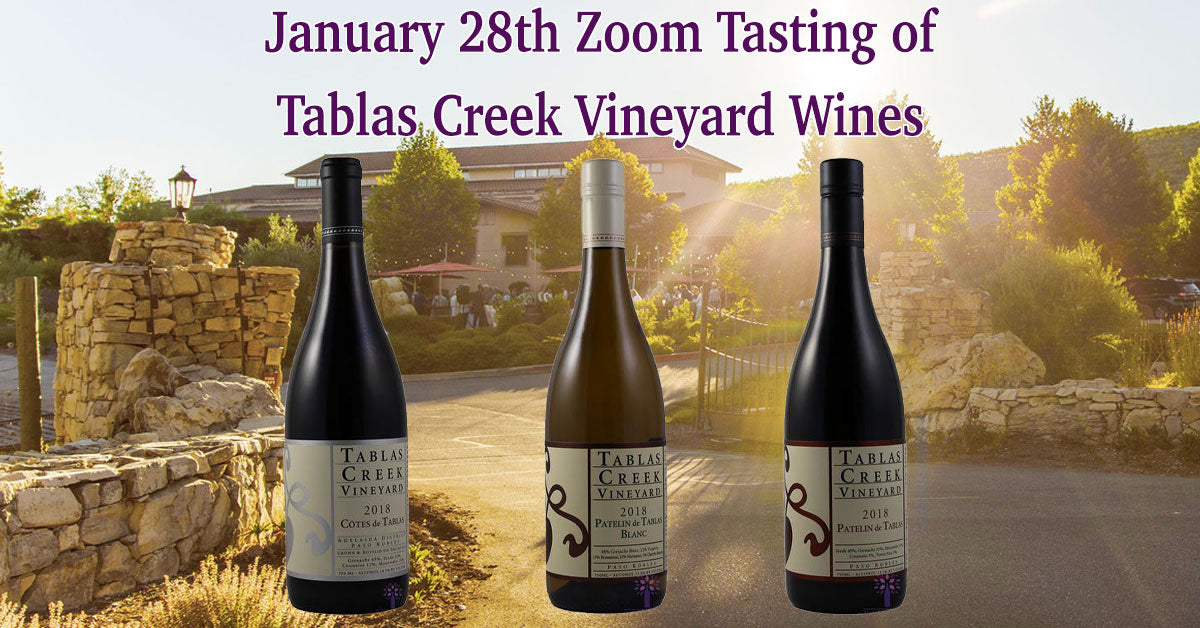 Wines for the January 28th Tasting