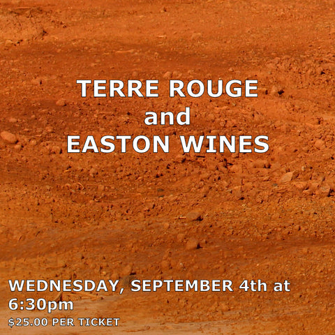 Terre Rouge and Easton Vineyards Tasting