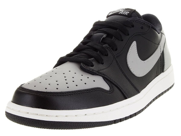 best website 431b4 77485 Jordan 1 Retro Low OG Men Round Toe Synthetic Black Basketball Shoe ...
