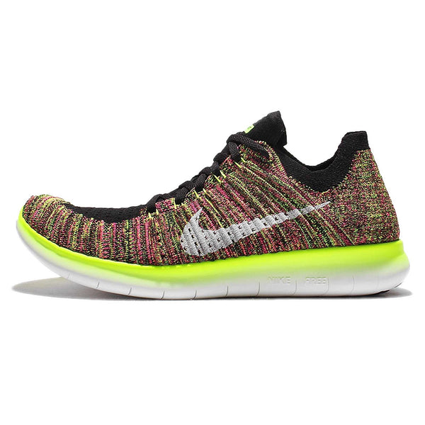 buy online b1525 1371e Nike Women's Free Running Motion Flyknit Shoes, Multi-Color/Multi-Color -  10.5 B(M) US