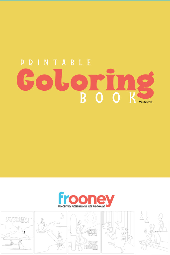 Frooney printable coloring book