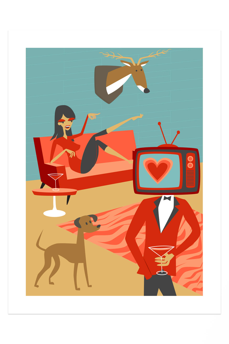 I LOVE TV! (Giclée Fine Art Print)