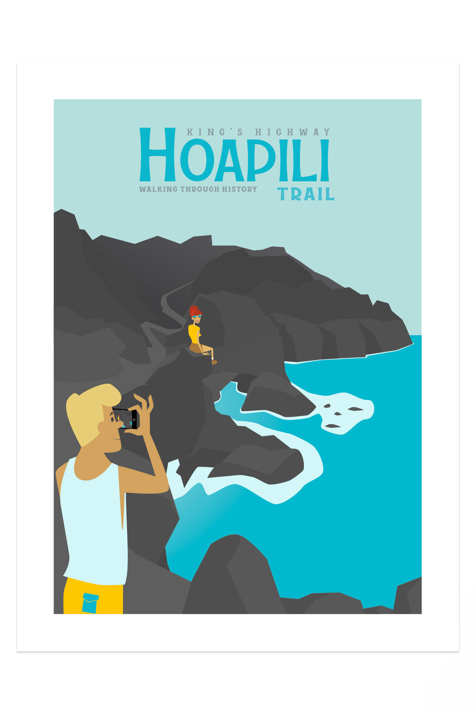 HOAPILI TRAIL (Retro Hawai'i Travel Poster)