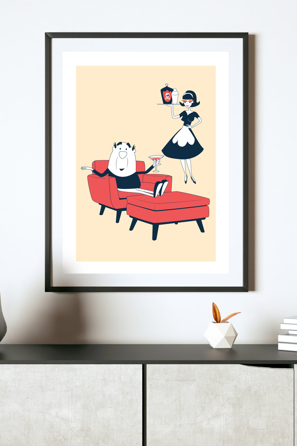 The Maid Did it - Part 1 (Retro Mid-Century Cartoon Print) Giclée Fine Art Print