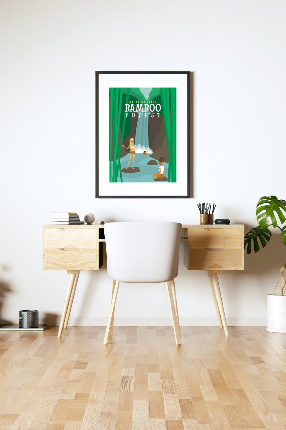 Bamboo Forest (Retro Hawai'i Travel Poster)
