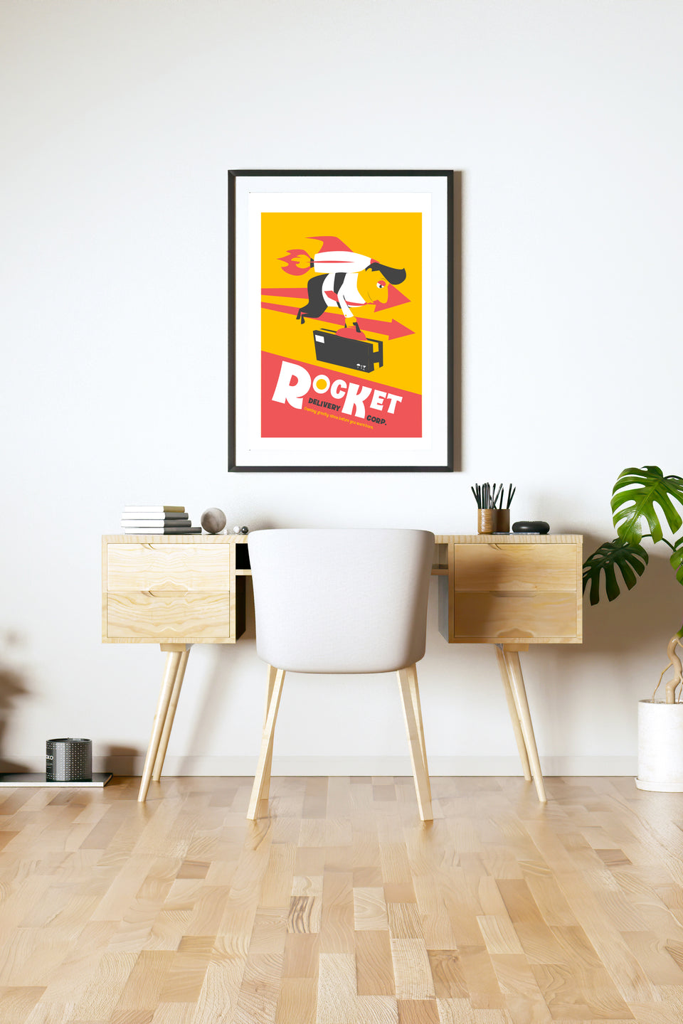 Rocket Delivery Corp (Giclée Fine Art Print) Atomic Wall Art
