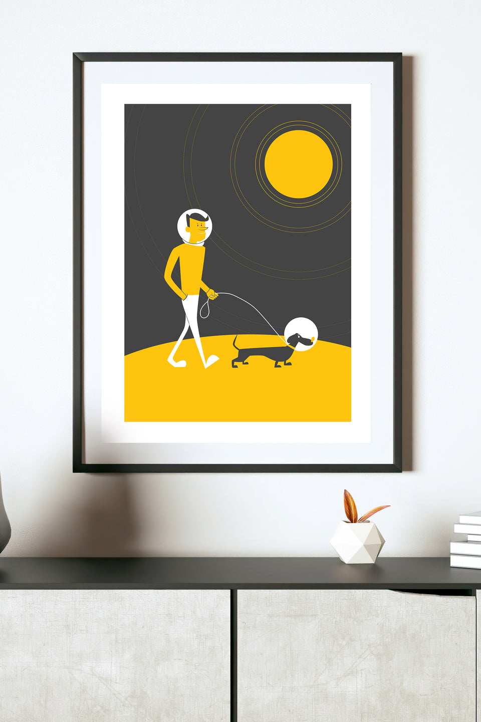 Walking Space Dog (Giclée Fine Art Print)