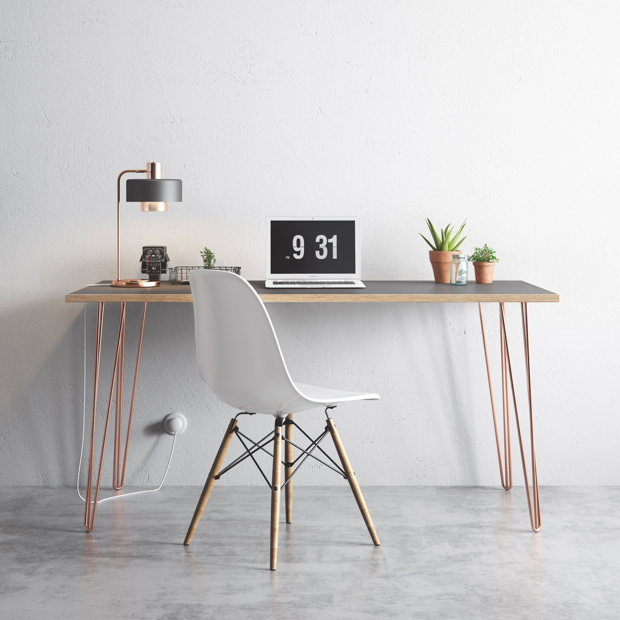 desk comfy and with leg small home furniture legs wood creative design office table accessories idea diy inspiring hairpin