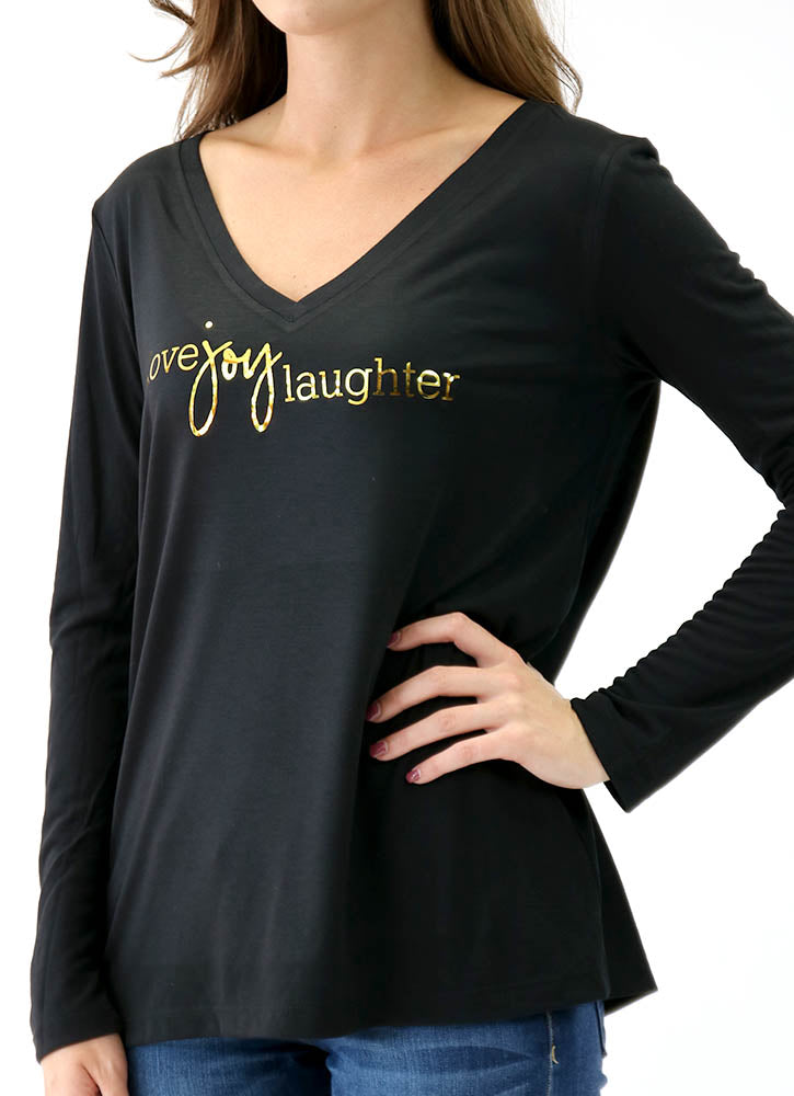 LOVE JOY LAUGHTER – LONG SLEEVE FLOWY
