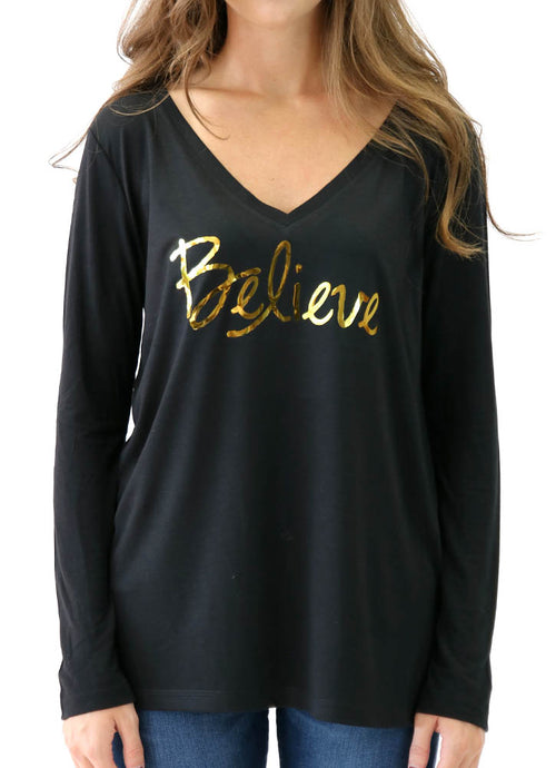 BELIEVE – LONG SLEEVE FLOWY