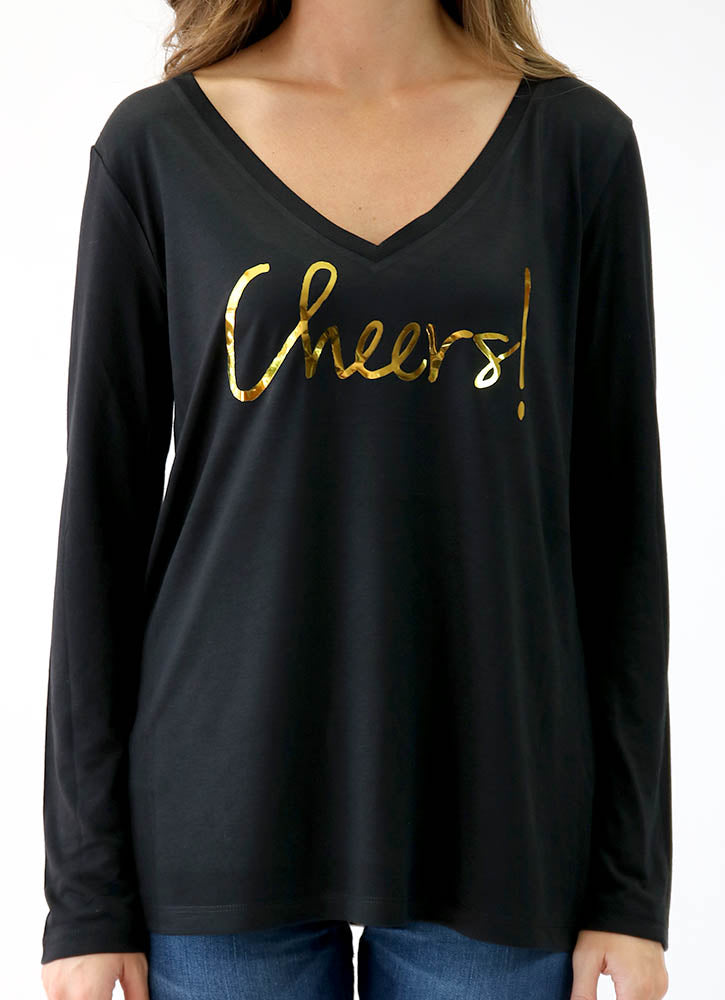 CHEERS! – LONG SLEEVE FLOWY