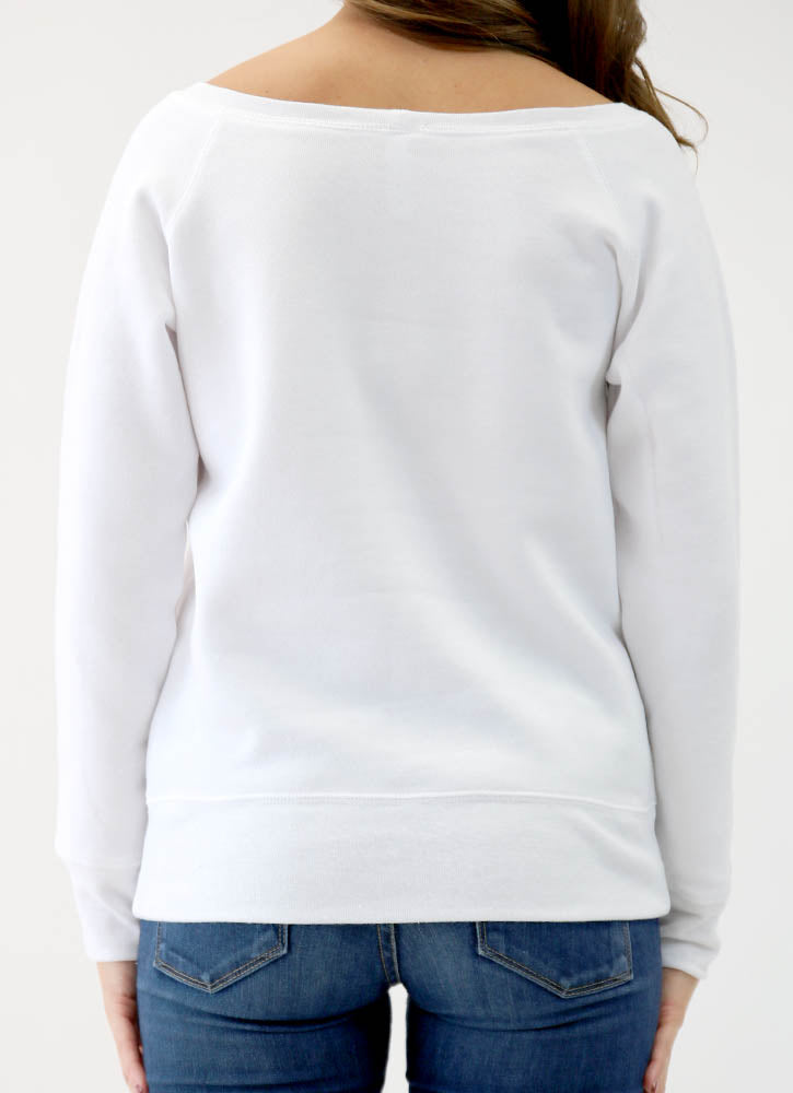 CHEERS! SPONGE FLEECE WIDENECK SWEATSHIRT
