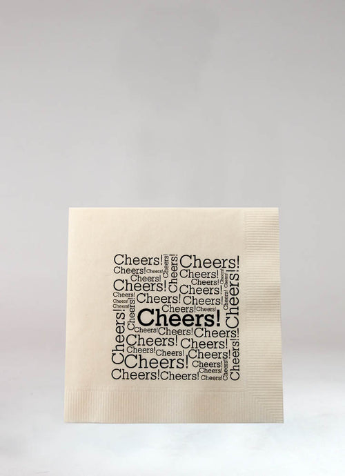 CHEERS! BEVERAGE NAPKIN SET