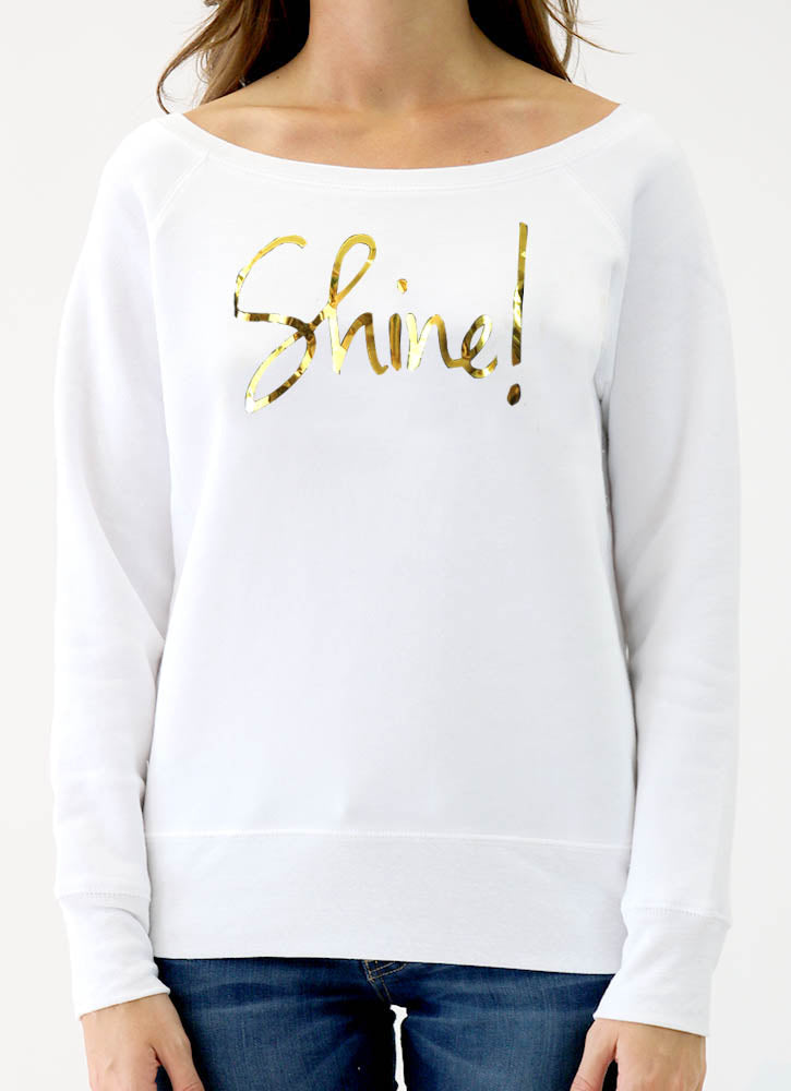 SHINE! SPONGE FLEECE WIDENECK SWEATSHIRT